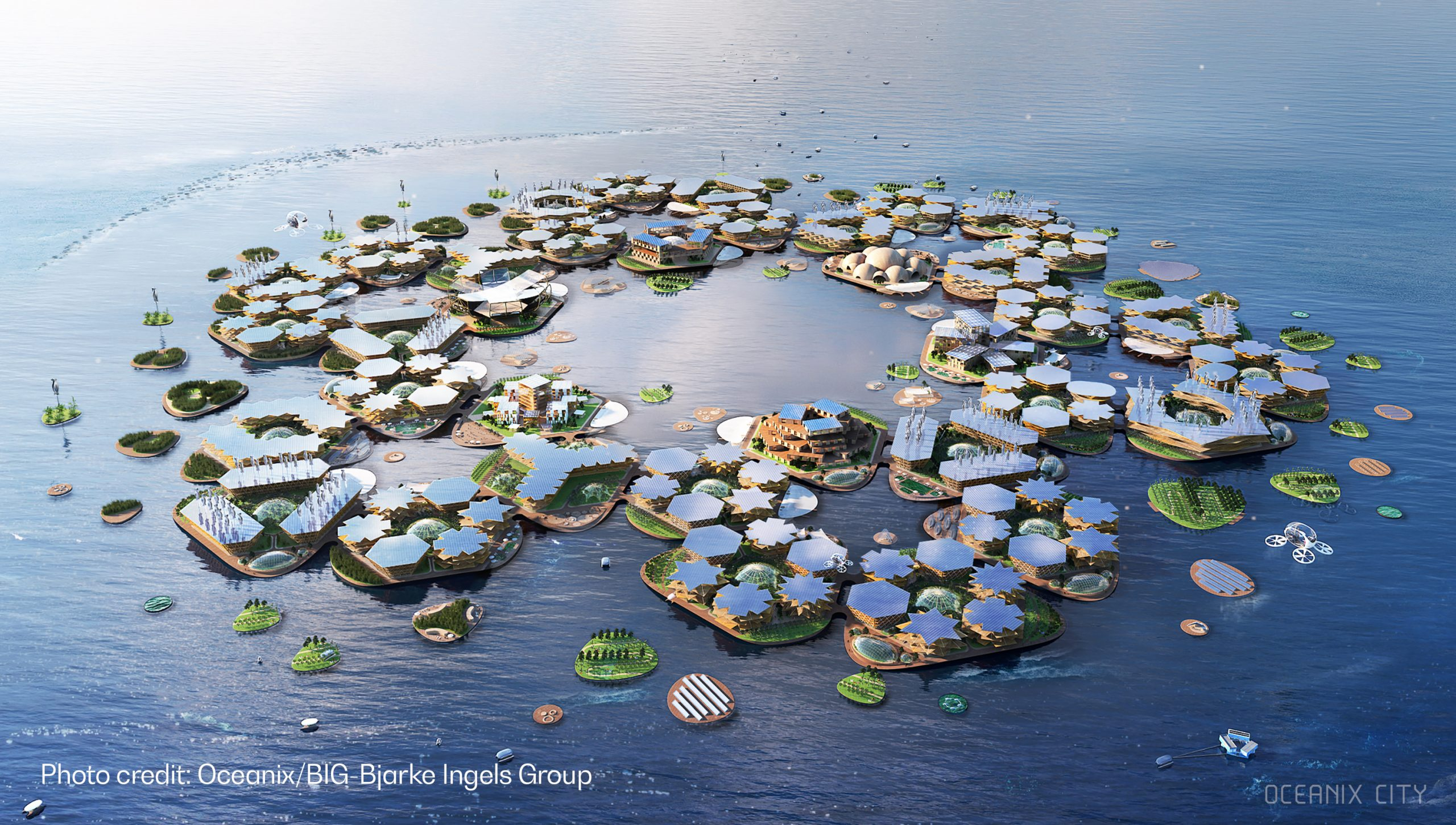 floating city of 10,000 people